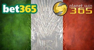 Bet365 и Planetwin365 са във война за италианската корона за онлайн спортни залагания